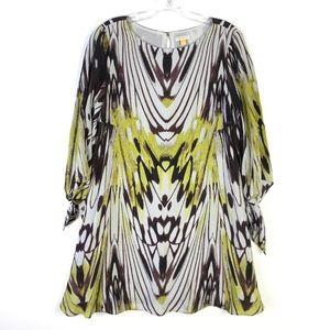 Leifsdottir Anthropologie Mini Silk Dress #1234